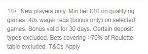 Ladbrokes Casino Bonus Terms