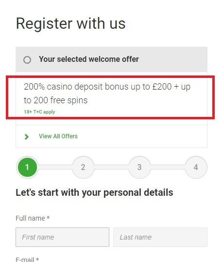 Unibet Casino £200 Bonus Offer