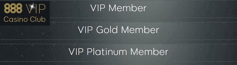 888casino vip club levels